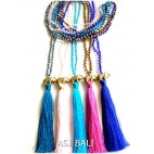 elephant golden bronze pendant necklaces tassels 5color