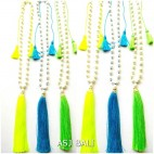 full fresh water pearls necklaces tassels pendant 3color handmade