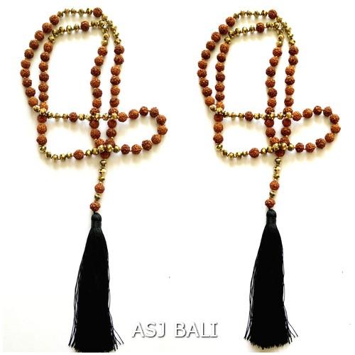 rudraksha necklaces pendant yoga prayer style handmade bali