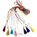 small crystal beads tassels necklaces pendant long strand