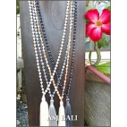 balinese fashion necklaces crystal beads tassels pendant 4color