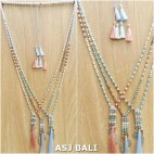 charm tassels pendant mix beaded tassels necklaces indian style 3color