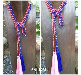 long crystal beads tassels necklaces pendant scarves 2color