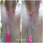 long crystal beads tassels necklaces pendant scarves design