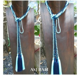 long layer crystal beads tassels necklaces pendant scarves design