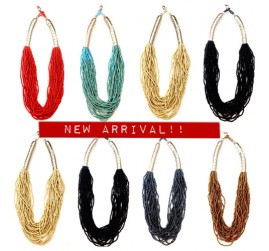 Multi Strand Beads Necklaces