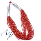 Bali multi strand necklace beads