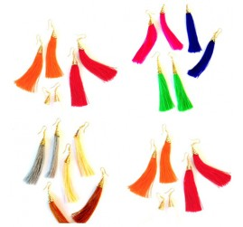 Tassel Earring Multi Coloring Bali