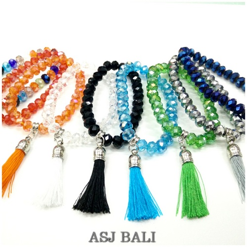 Crystal Beads Bracelets Stretch Handmade Tels