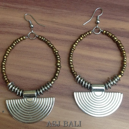 Bead Earring handmade beads earring jewelry bali shop in kuta