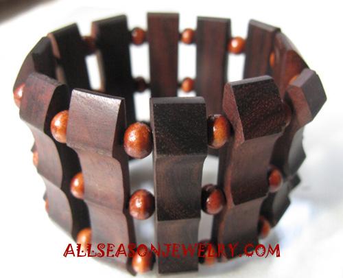 Wood Bracelets Natural Wooden Bracelet Handmade From Bali